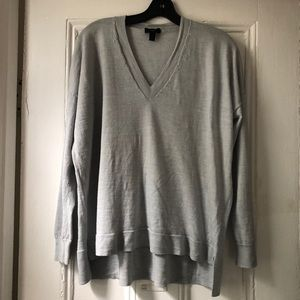 J.Crew blue merino wool boyfriend sweater size L